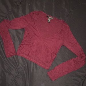 Burgundy forever 21 crop top size small
